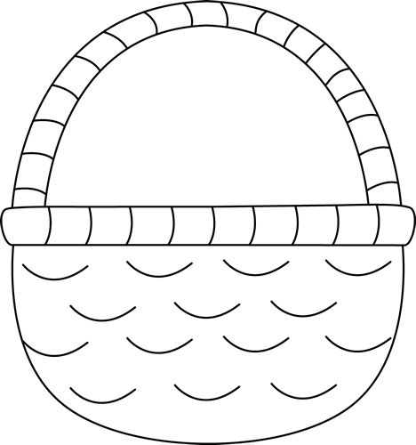 Basket without handles clipart black and white banner royalty free library Free White Basket Cliparts, Download Free Clip Art, Free Clip Art on ... banner royalty free library
