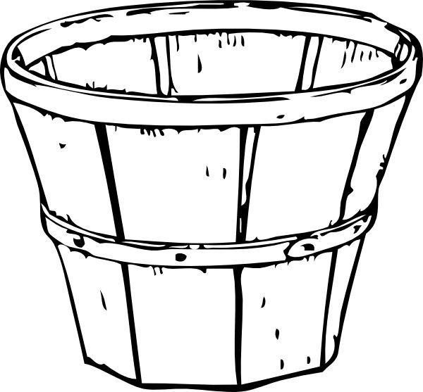 Basket without handles clipart black and white png black and white stock Image result for empty basket of apples line drawing | baskets ... png black and white stock