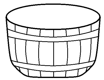 Basket without handles clipart black and white freeuse Free White Basket Cliparts, Download Free Clip Art, Free Clip Art on ... freeuse