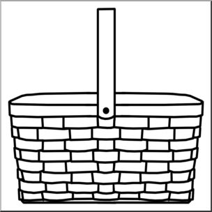 Basket without handles clipart black and white clip art transparent Basket Clipart | Free download best Basket Clipart on ClipArtMag.com clip art transparent