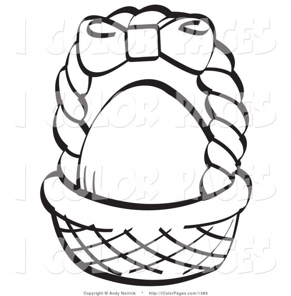 Basket without handles clipart black and white banner black and white library Picnic Basket Clipart Black And White | Free download best Picnic ... banner black and white library