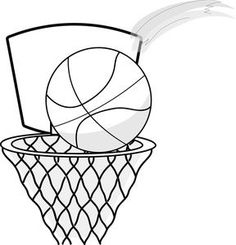 Basketball abstract net clipart black and white jpg stock 80 Best Basketball clipart images in 2019 | Basketball uniforms ... jpg stock
