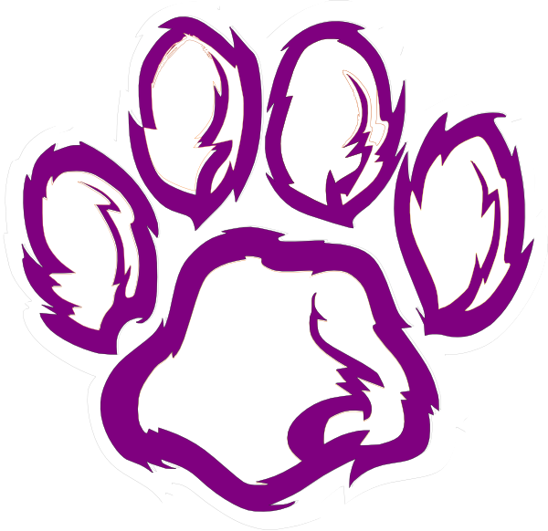 Basketball and claw clipart. Tiger paw black white