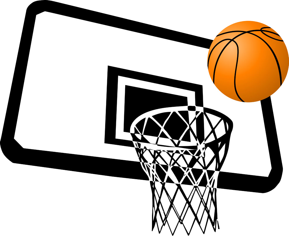 Slam dunk clip art. Basketball ball over court clipart