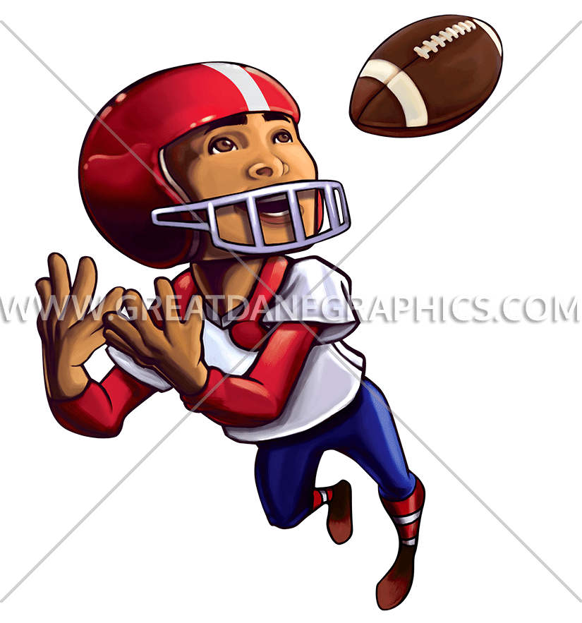 Throwing football clipart royalty free download Football Kid Catch | Production Ready Artwork for T-Shirt Printing royalty free download