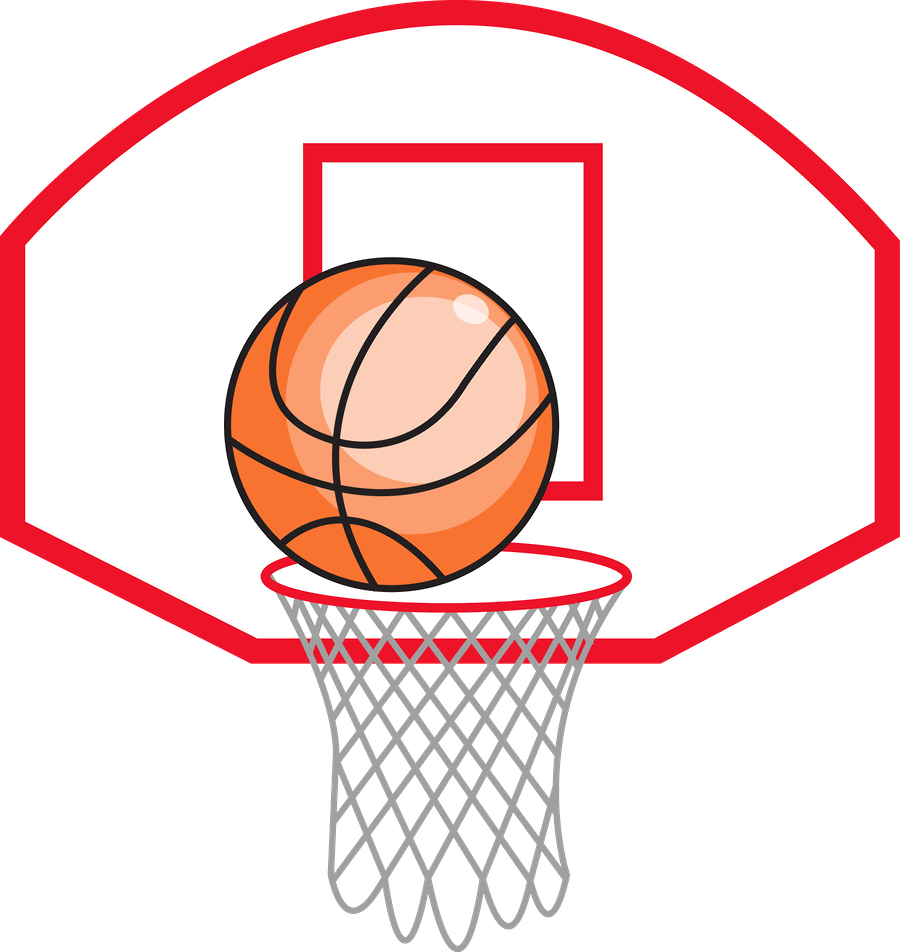 Custom ink clipart basketball shooting jpg black and white Basketball Goal Clipart at GetDrawings.com | Free for personal use ... jpg black and white