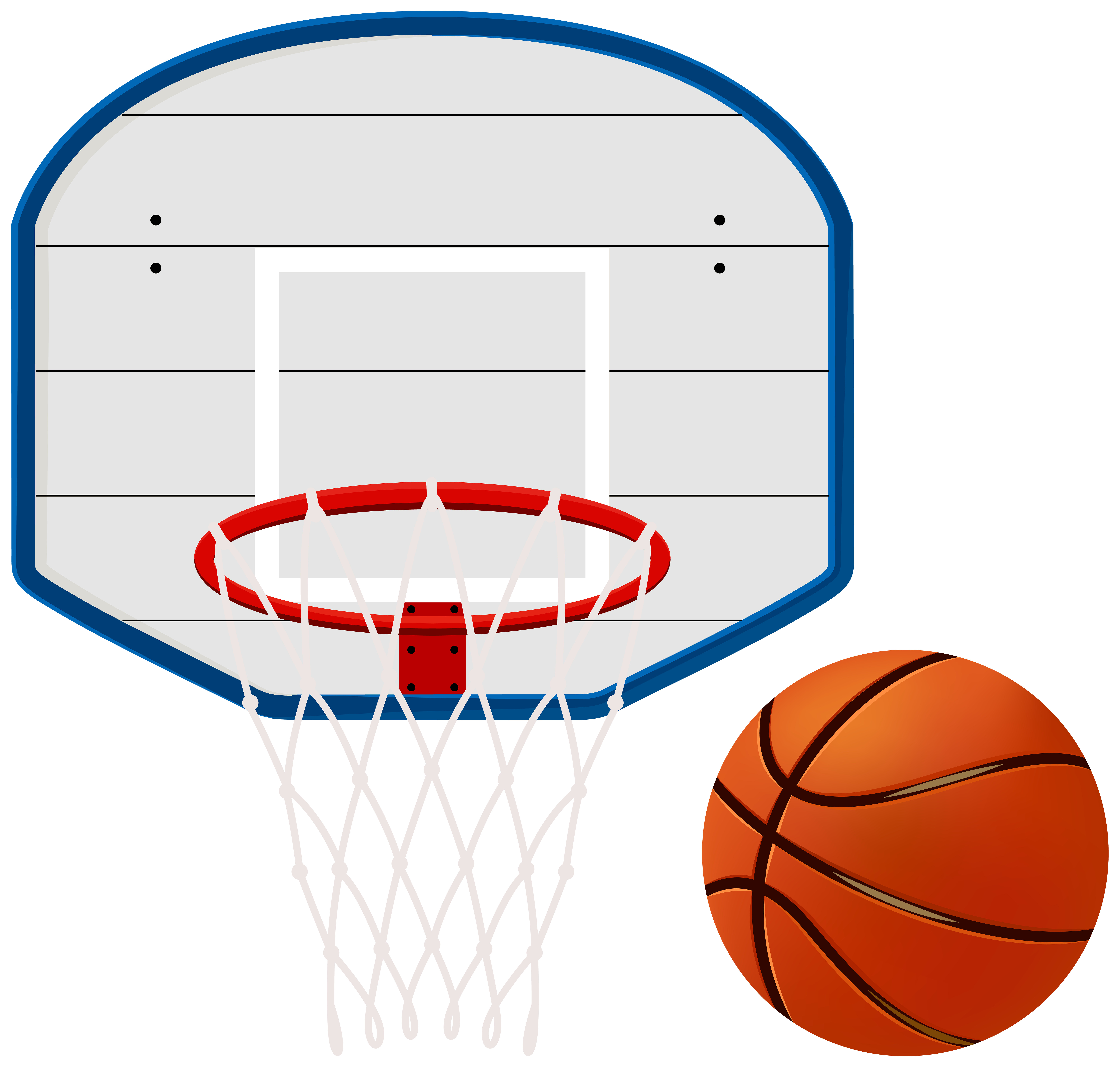 Basketball net clipart svg library Basketball Hoop Clip Art Image | Gallery Yopriceville - High ... svg library