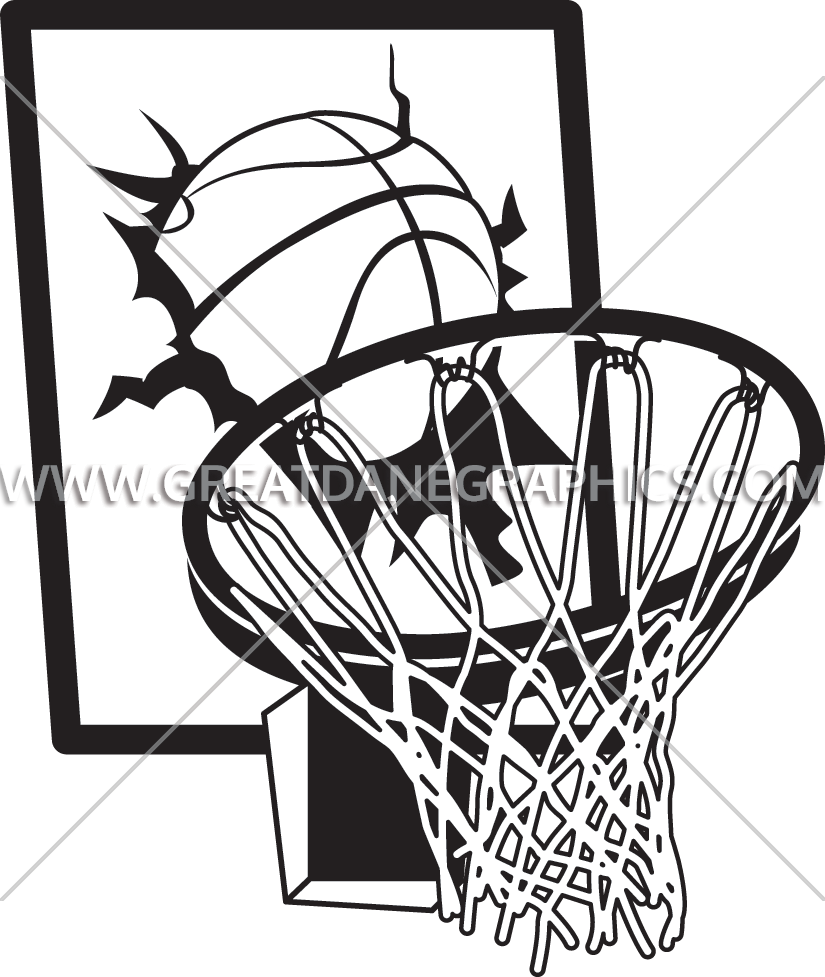 Basketball backboard breaking clipart vector black and white Basketball Hoop Drawing at GetDrawings.com | Free for personal use ... vector black and white