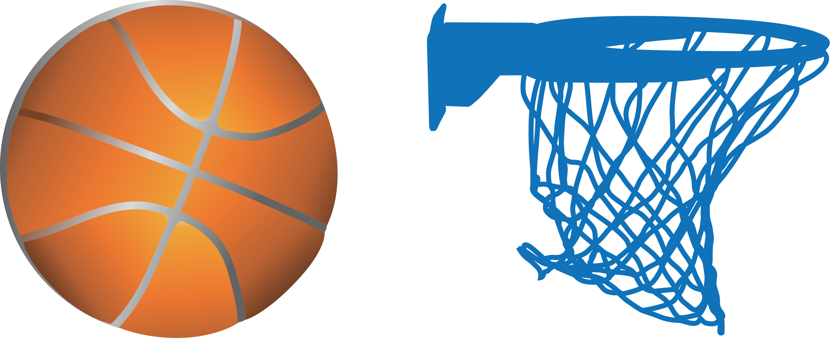 Sticker clip art transprent. Basketball ball over court clipart