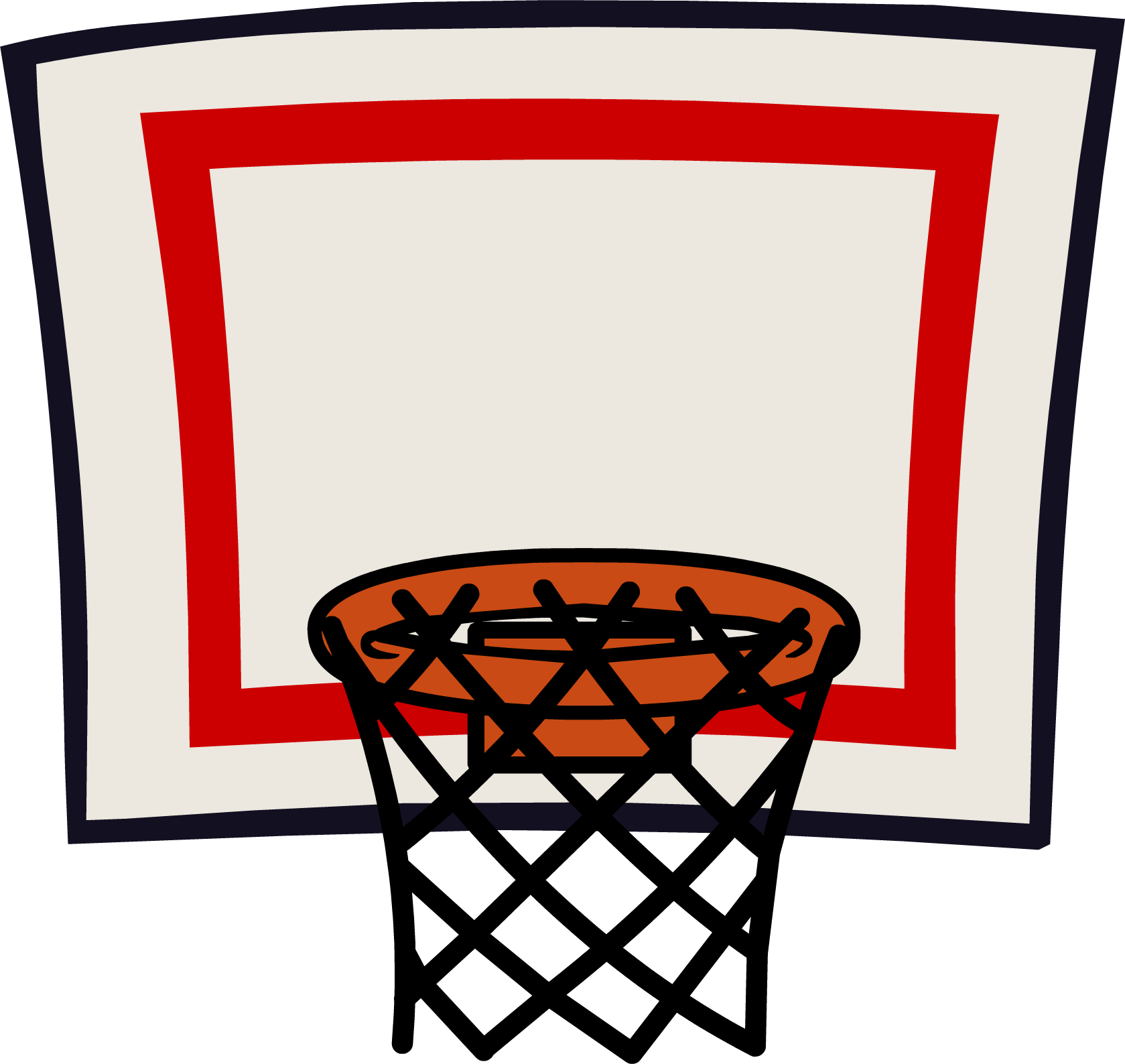 Basketball and hoop clipart jpg black and white 28+ Collection of Basketball Board Ring Clipart Png   High quality ... jpg black and white