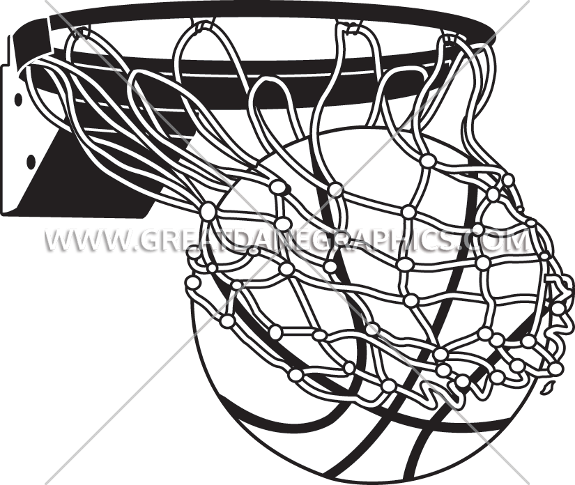 Black and white basketball hoop clipart banner transparent library Basketball Drawing at GetDrawings.com | Free for personal use ... banner transparent library
