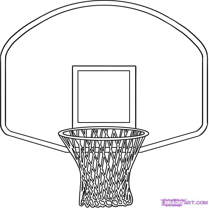 Basketball and hoop clipart black and white clip art freeuse download Basketball hoop clipart black and white 5 » Clipart Portal clip art freeuse download
