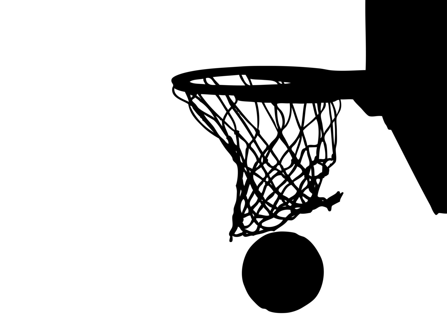 Basketball and hoop clipart black and white clip art library stock Free Basketball Hoop Cliparts, Download Free Clip Art, Free Clip Art ... clip art library stock
