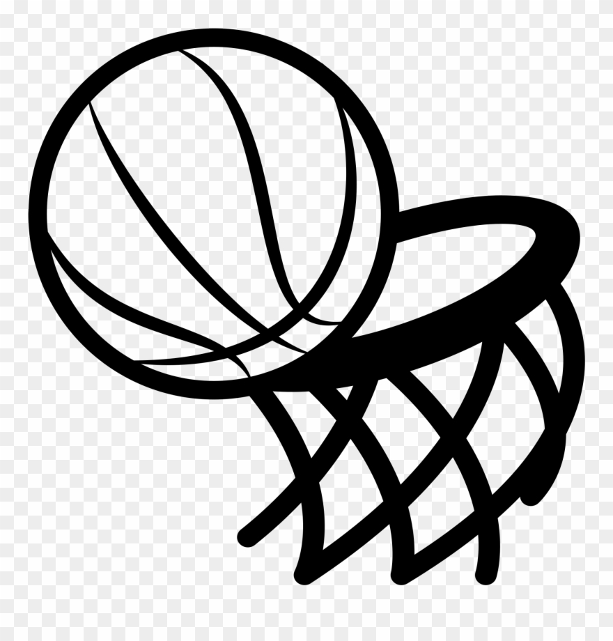 Basketball and hoop clipart black and white clip art black and white download Graphic Freeuse Basketball Hoop Black And White Clipart - Black And ... clip art black and white download