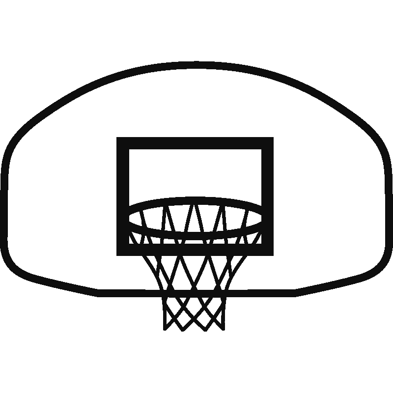 Basketball and hoop clipart black and white free library Free Basketball Goal Cliparts, Download Free Clip Art, Free Clip Art ... free library