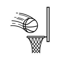 Basketball and hoop clipart black and white png library Basketball Hoop Black And White | Free download best Basketball Hoop ... png library