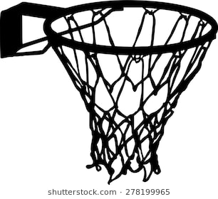 Basketball and hoop clipart black and white jpg free download Basketball net clipart black and white 2 » Clipart Station jpg free download