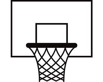 Basketball and hoop clipart black and white clip library download Basketball Hoop Clipart Black And White | Free download best ... clip library download
