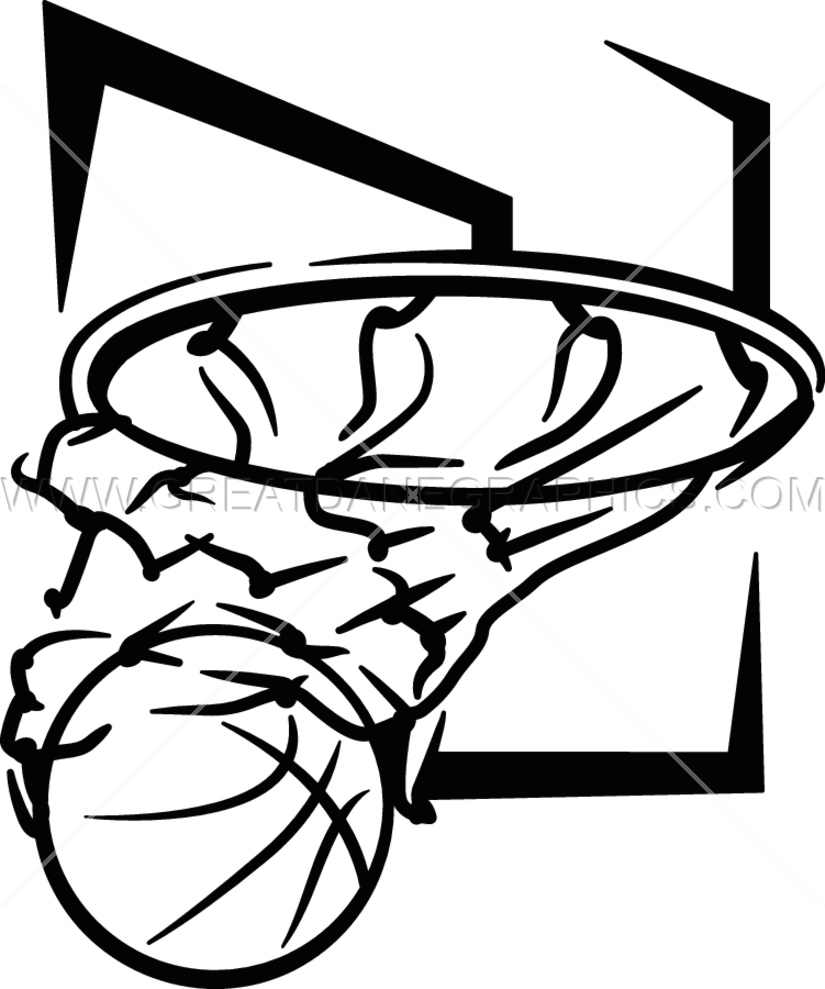 Black and white basketball hoop clipart image library download Basketball Hoop Drawing at GetDrawings.com | Free for personal use ... image library download