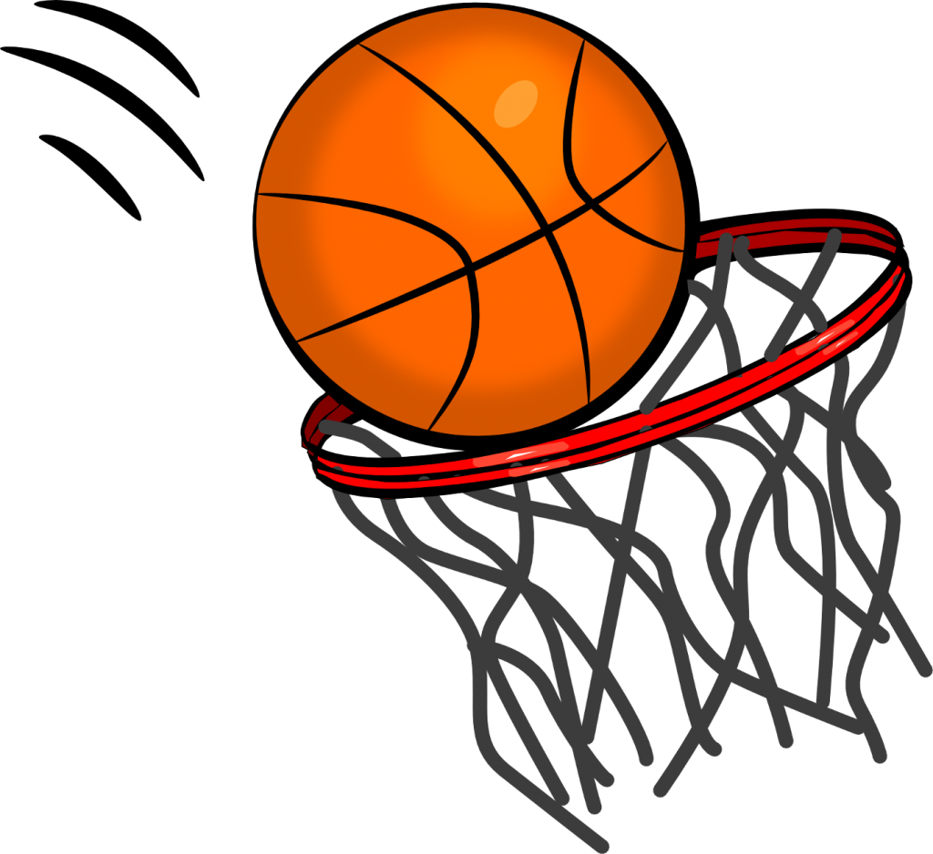 Basketball swoosh clipart
