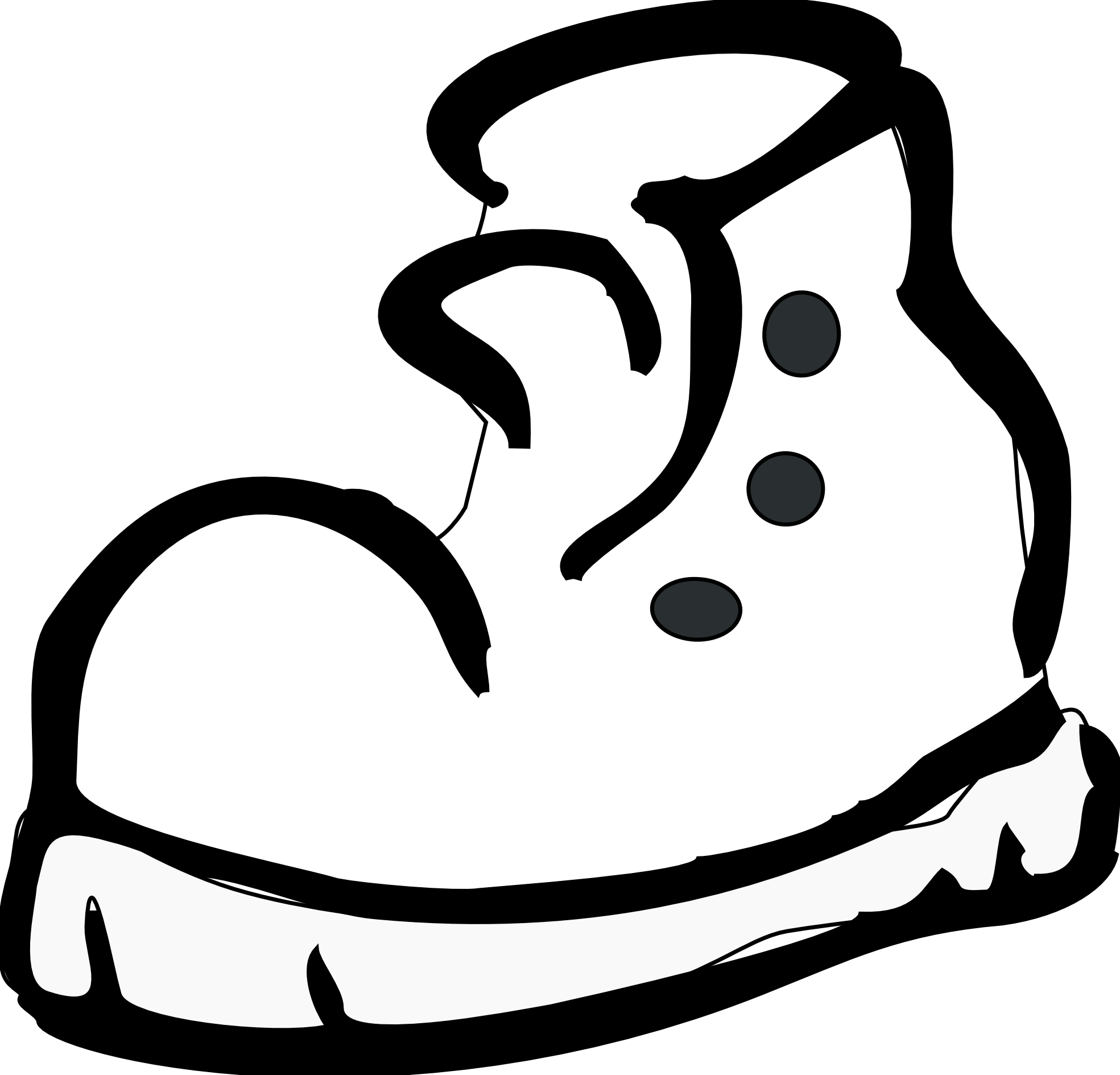 Basketball shoes from above clipart black and white svg Nike Running Shoes Clipart | Clipart Panda - Free Clipart Images svg