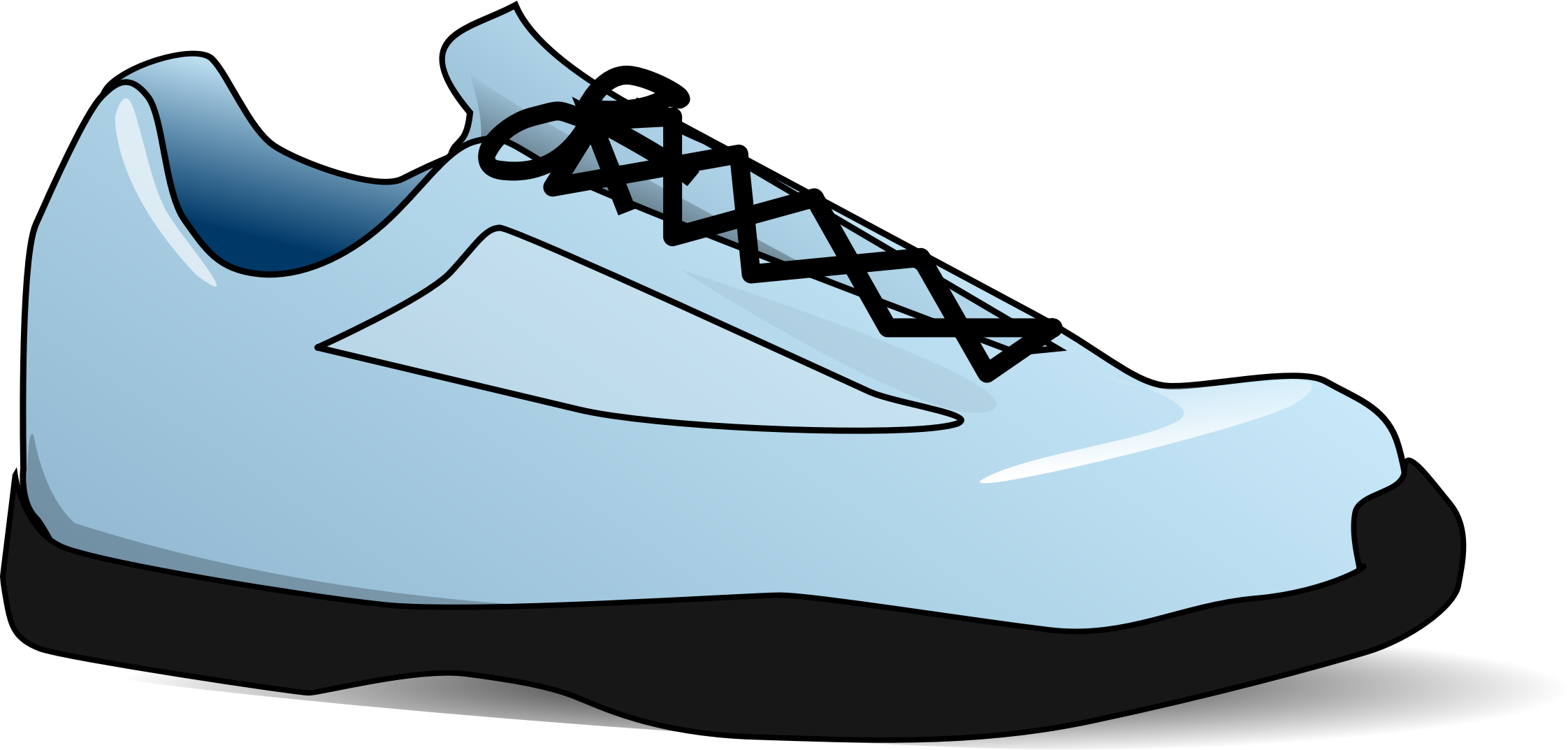Nike basketball tennis shoe clipart image black and white download Nike Shoes Clipart at GetDrawings.com | Free for personal use Nike ... image black and white download