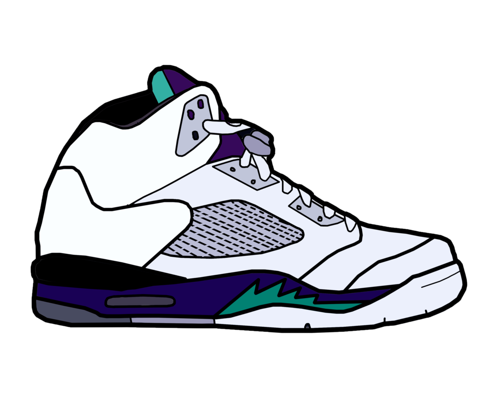 Nba basketball shoes clipart banner transparent library Jordan Drawing at GetDrawings.com | Free for personal use Jordan ... banner transparent library