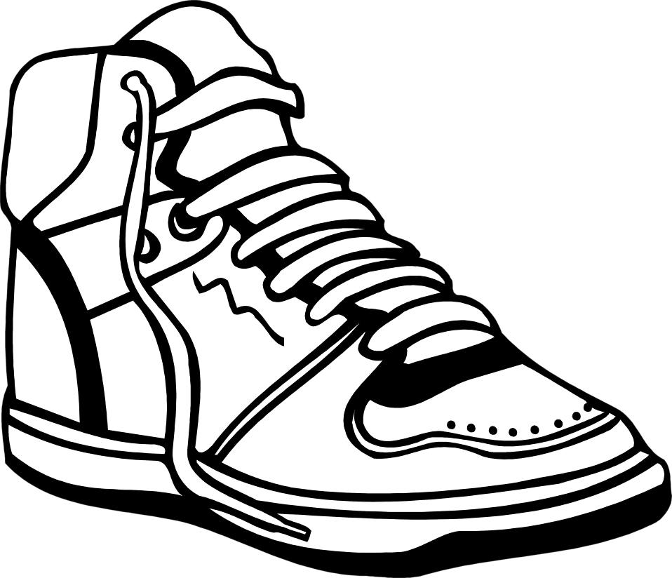 Free black and white baseball clipart clipart freeuse download Clip Art Basketball Shoes Clipart clipart freeuse download