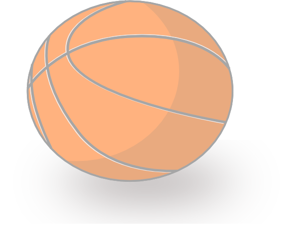 Faded basketball clipart transparent library Basket Ball Clip Art at Clker.com - vector clip art online, royalty ... transparent library