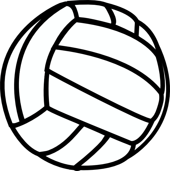 Basketball and volleyball clipart. Clip art vector online