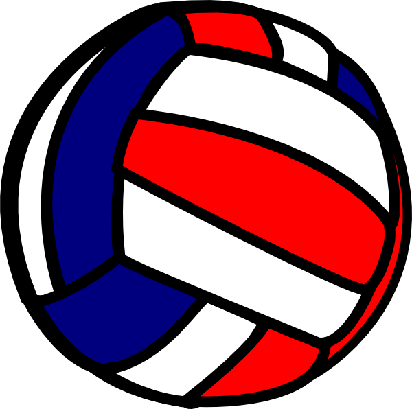 collection of blue. Basketball and volleyball clipart