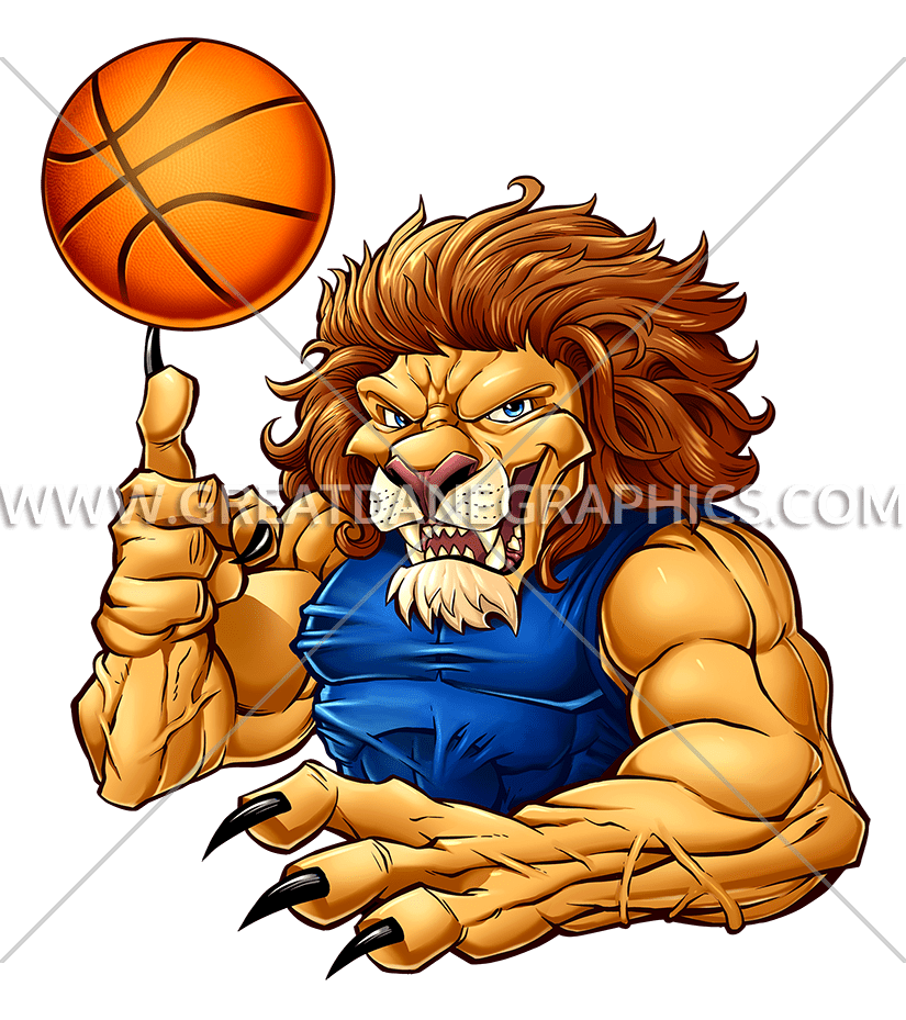 Basketball video clipart clip art free stock Basketball Lion | Production Ready Artwork for T-Shirt Printing clip art free stock