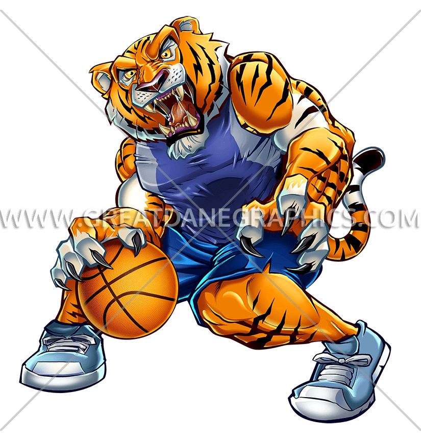 Free basketball clipart tiger free Basketball Tiger | Production Ready Artwork for T-Shirt Printing free