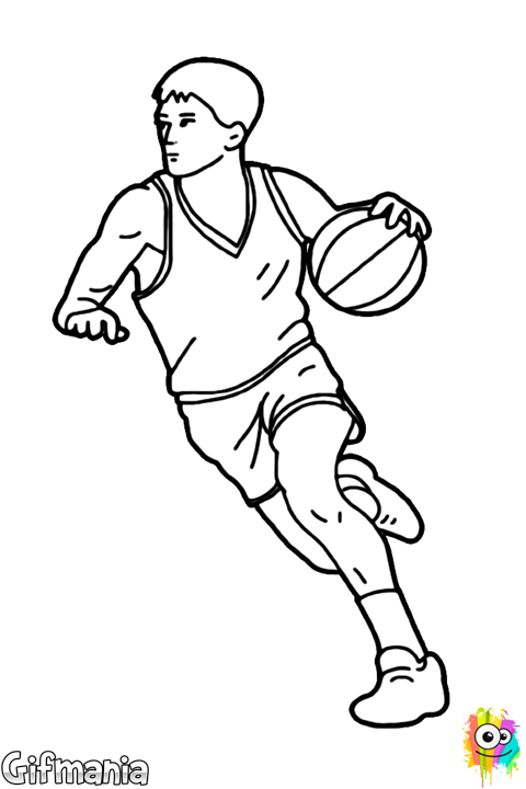 Retro basketball players shooting clipart png library baloncesto #jugador #pivot #dibujo | básquet | Pinterest png library