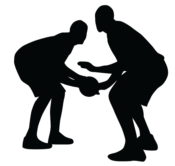 Fun basketball clipart image black and white stock 28+ Collection of Basketball Defense Clipart | High quality, free ... image black and white stock