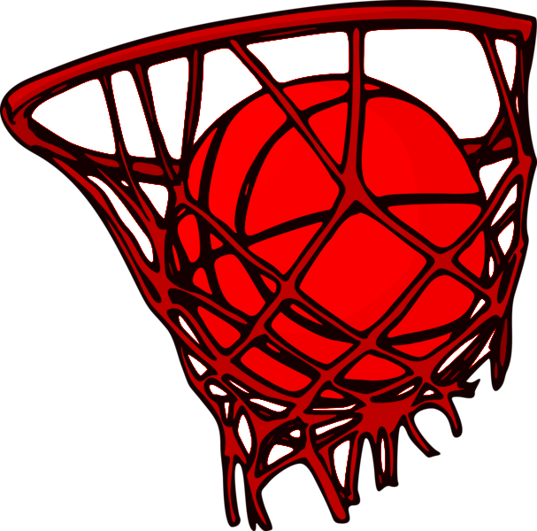 Red basketball hoop clipart clipart black and white Basketball Backboard Net Clip art - basketball 607*600 transprent ... clipart black and white