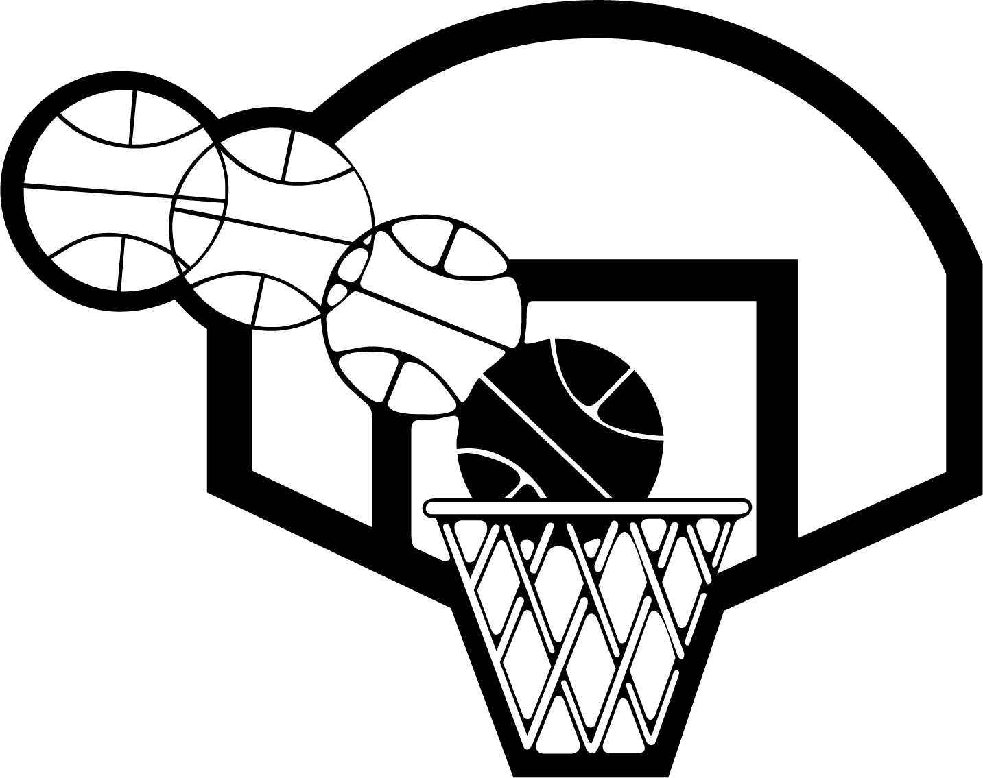 Basketball court clipart black and white banner black and white library North Carolina Tar Heels mens basketball Backboard Clip art - White ... banner black and white library