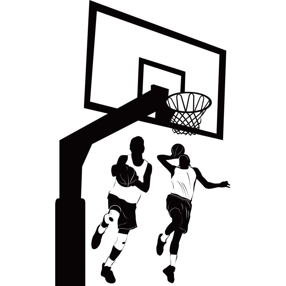Basketball crossover clipart image black and white library Womens basketball Backboard Clip art - projection,physical education ... image black and white library