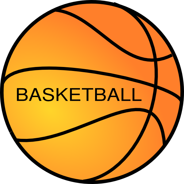 Basketball bsll clipart graphic black and white stock Basket Ball Clip Art at Clker.com - vector clip art online, royalty ... graphic black and white stock