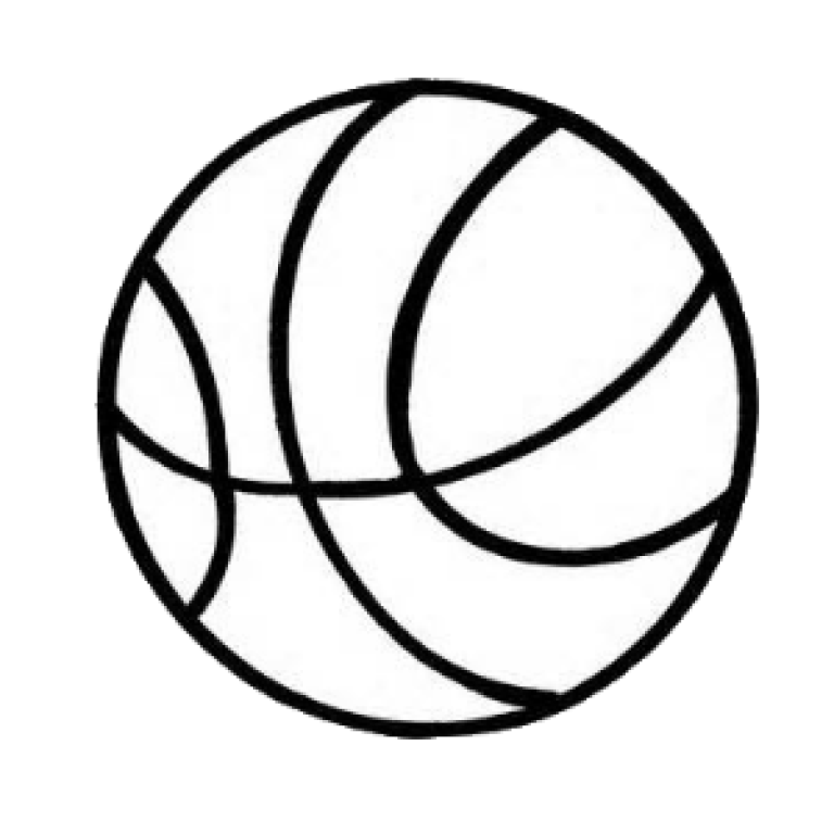 Basketball ball clipart black and white banner freeuse download Athletics - Parish Athletics | St. Mary Parish banner freeuse download