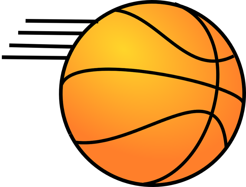 on in singapore. Basketball ball over court clipart