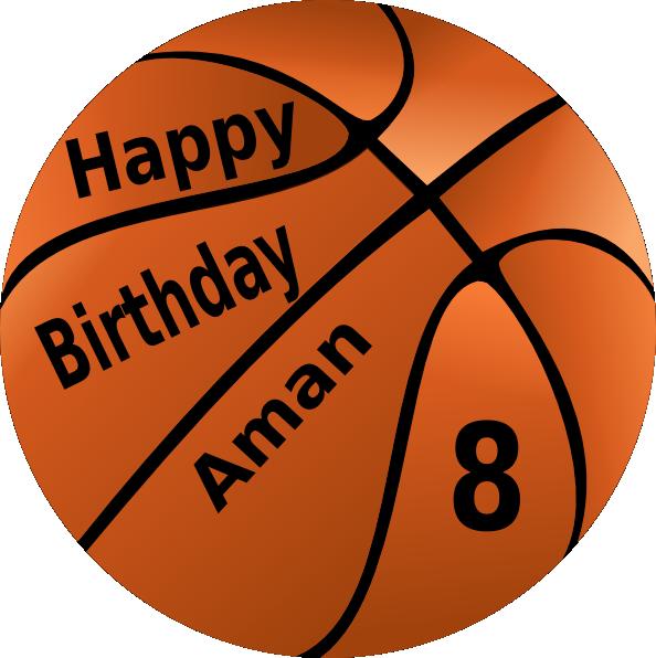 Basketball birthday clipart image stock Happy Birthday Basketball Aman Clip Art at Clker.com - vector clip ... image stock