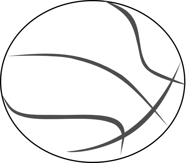 Football outline clipart black and white vector royalty free library Basketball Clipart Black And White | Clipart Panda - Free Clipart Images vector royalty free library