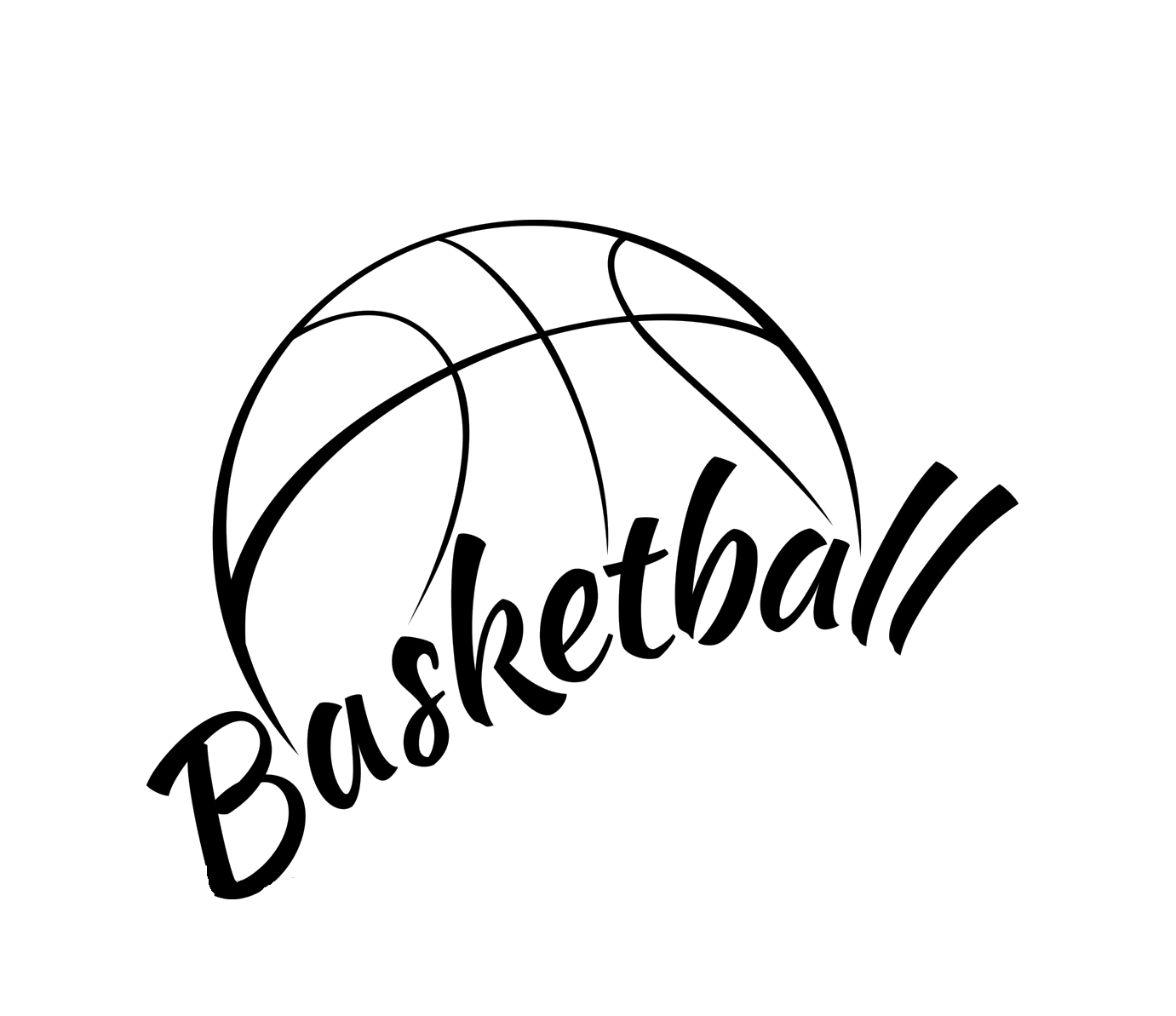 Basketball black white clipart svg transparent Basketball Stock photography Clip art - basketball 1381*1193 ... svg transparent
