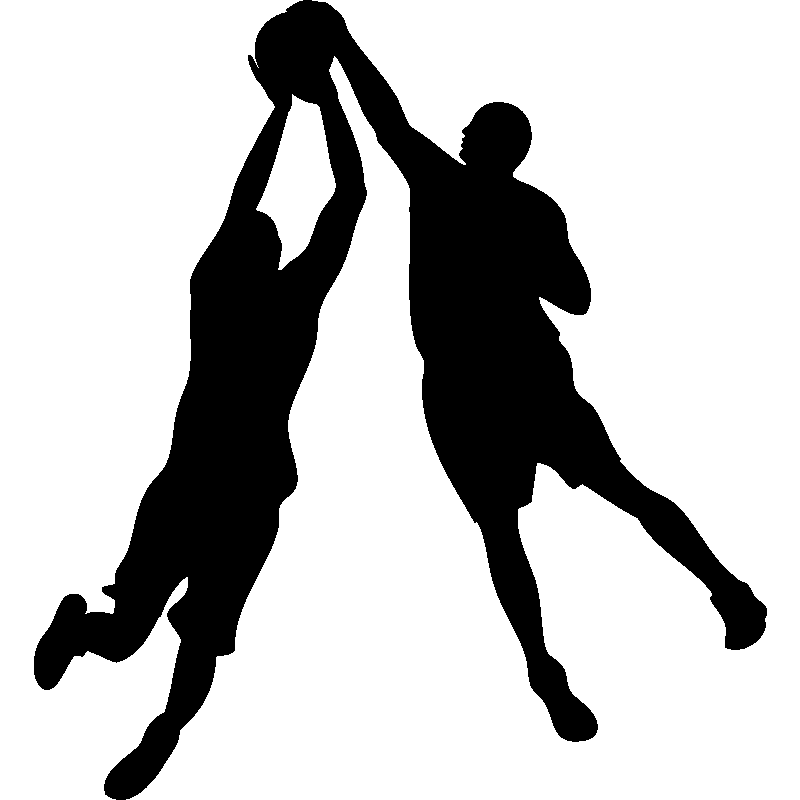 Basketball shadow clipart svg black and white 28+ Collection of Blocking In Basketball Clipart | High quality ... svg black and white