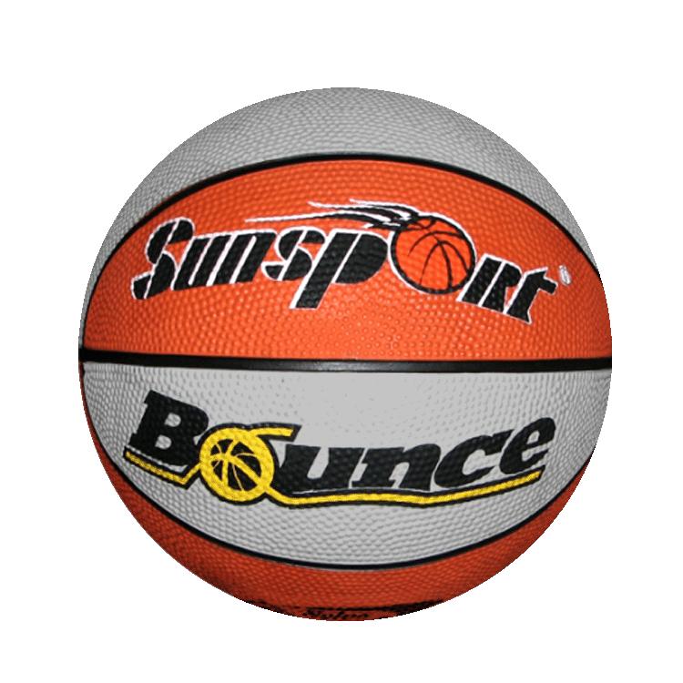 Basketball bounce clipart vector black and white stock SUNSPORT Bounce Junior Rubber Basketball (orange and gray) – Sunsport vector black and white stock