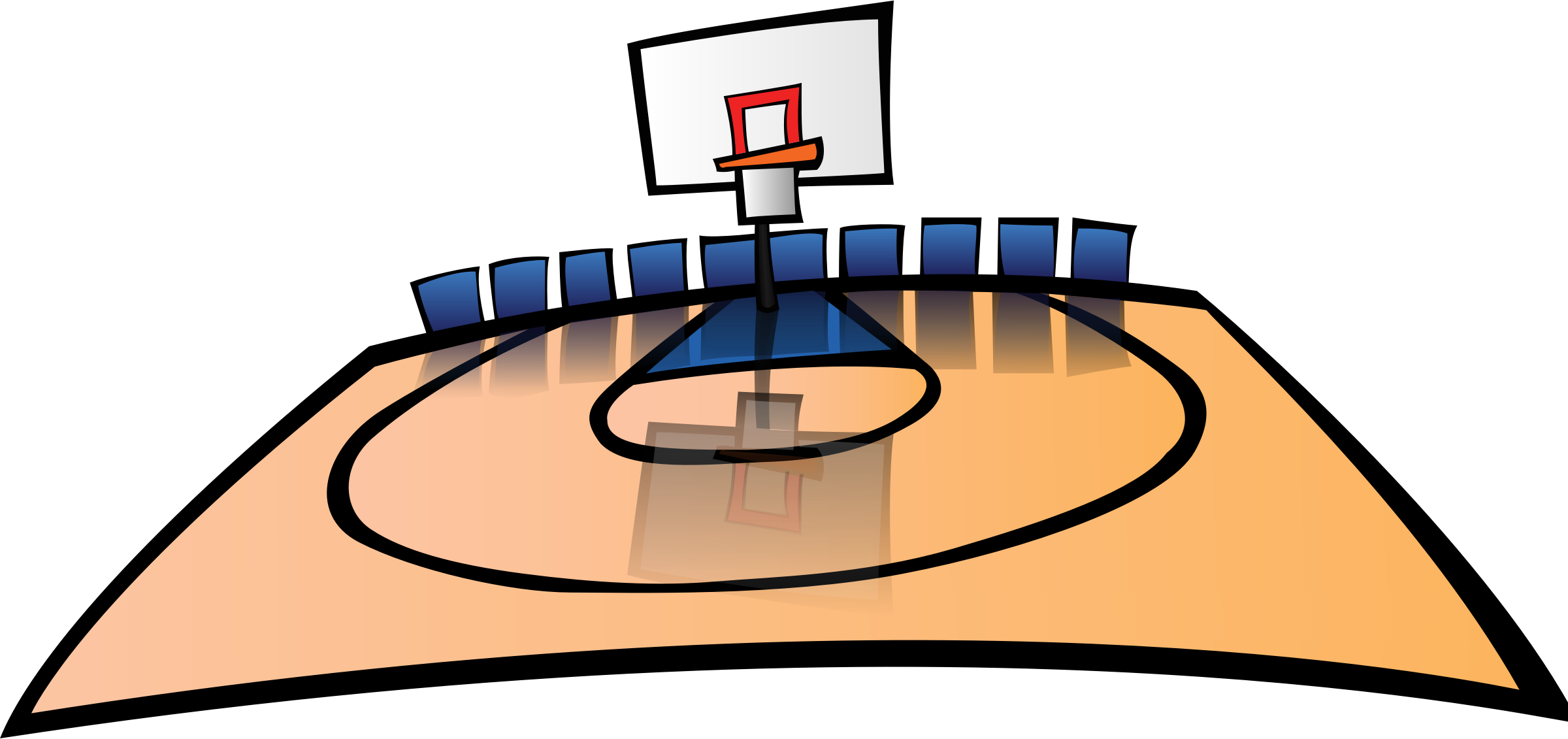 School gym clipart clip royalty free stock Clipart - Basketball Court clip royalty free stock