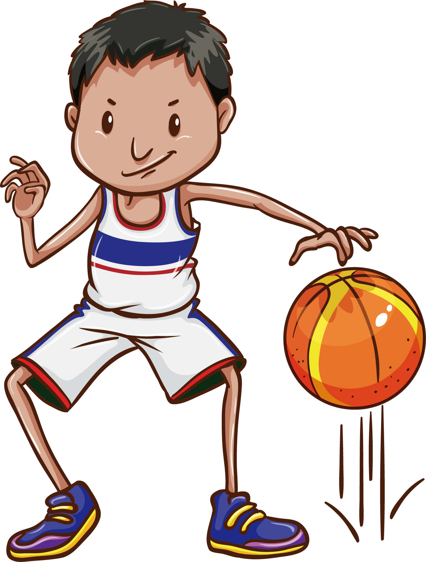 Basketball player dribbling clipart picture stock Basketball Dribbling Clip art - Physical education basketball 1414 ... picture stock