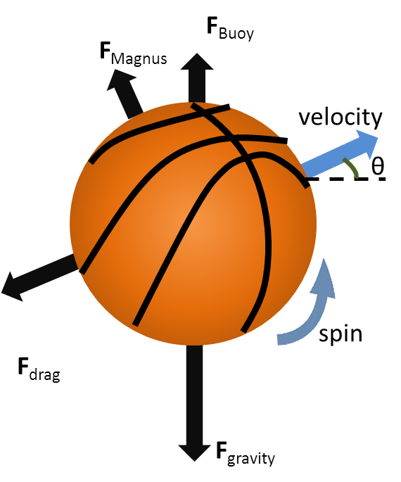 Basketball free throw clipart banner free library Forces acting on a basketball in flight | Physics of Basketball banner free library