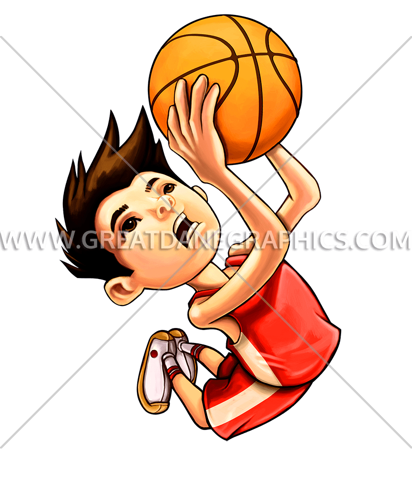Basketball player dunking clipart clip art black and white stock Kid Basketball Dunk | Production Ready Artwork for T-Shirt Printing clip art black and white stock